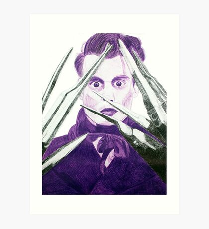 Johnny Scissor hands Art Print