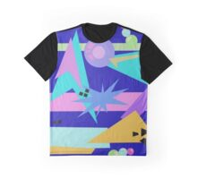 80's Retro Pastel Abstract Explosion Graphic T-Shirt