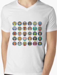 Animal faces design Mens V-Neck T-Shirt