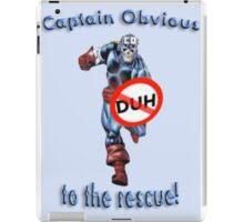 Captain Obvious iPad Case/Skin