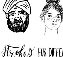 Different Strokes For Different Folks Illustration Sticker