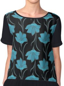 Seamless Flower  Buttercup  Pattern. Summer background garden Chiffon Top