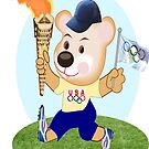 Teddy with Olympic Torch (3820  Views) by aldona