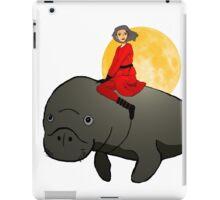 Hero's Flying Manatee - No Background iPad Case/Skin