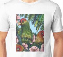 Parrots in Rainforest Unisex T-Shirt