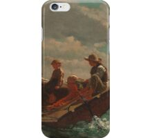 Winslow Homer - Breezing Up A Fair Wind  iPhone Case/Skin