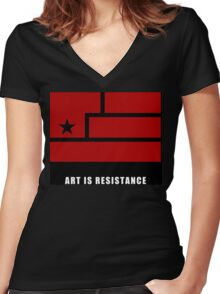 AIR -Art Is Resistance Women's Fitted V-Neck T-Shirt