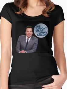 jim fallon Women's Fitted Scoop T-Shirt