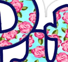 Pitt Script Floral Sticker