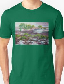 Mangroves in the rain ,Cleveland Bay Brisbane  Unisex T-Shirt