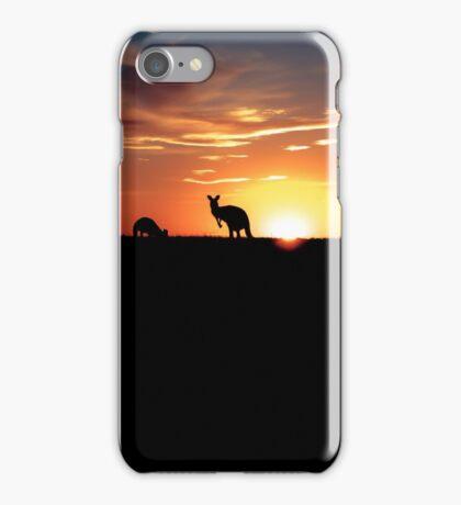 Kangaroos at Sunset iPhone Case/Skin