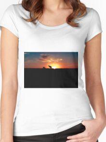 Kangaroos at Sunset Women's Fitted Scoop T-Shirt