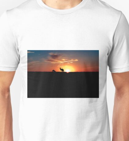 Kangaroos at Sunset Unisex T-Shirt