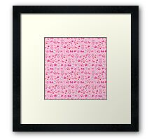 Sugar and Spice pink nursery patterns Framed Print