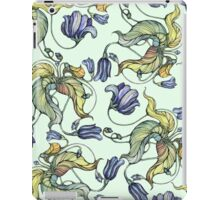 vintage floral pattern watercolor drawing iPad Case/Skin