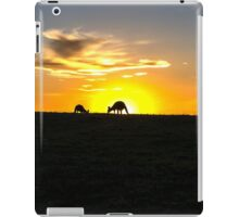 Silhouette of Kangaroos at  Sunset iPad Case/Skin