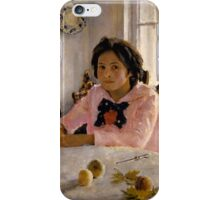 Valentin Serov - Girl with peaches iPhone Case/Skin