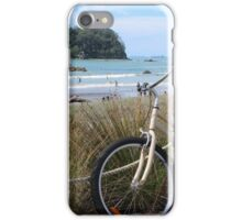 Bikes and summer days at Maunganui beach iPhone Case/Skin