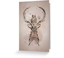 Elk & Owl Greeting Card