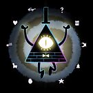 Inverted Bill Cipher Wheel (Dark version) by kuiwi