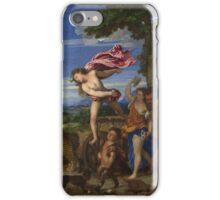 Tiziano Vecellio, Titian - Bacchus and Ariadne  iPhone Case/Skin