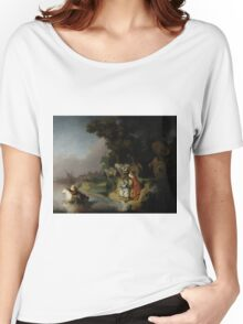 Rembrandt Harmensz van Rijn - The Abduction of Europa  Women's Relaxed Fit T-Shirt