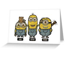 Minions Bob Kevin Stuart Greeting Card