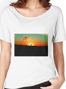 Lone Kangaroo at Sunset Women's Relaxed Fit T-Shirt