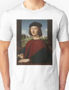 Raphael - Portrait of a Young Man in Red  Unisex T-Shirt