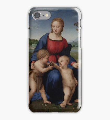 Raphael - Madonna of the Goldfinch  iPhone Case/Skin
