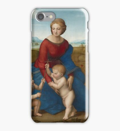 Raphael - Madonna in the Meadow  iPhone Case/Skin
