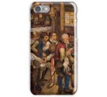 Pieter Brueghel the Younger - The Tax Collector's Office iPhone Case/Skin