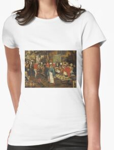 Pieter Brueghel the Younger - Peasant Wedding Feast  Womens Fitted T-Shirt