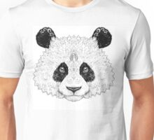 Portrait panda bear with patterns, ornaments Unisex T-Shirt