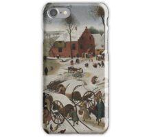 Pieter Brueghel the Younger - Census at Bethlehem . Landscape iPhone Case/Skin