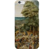 Pieter Brueghel the Younger - A Village Fair  iPhone Case/Skin