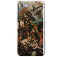 Pieter Bruegel the Elder - The Fall of the Rebel Angels iPhone Case/Skin