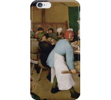 Pieter Bruegel the Elder - Peasant Wedding 1569 iPhone Case/Skin