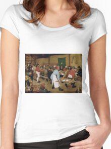 Pieter Bruegel the Elder - Peasant Wedding 1569 Women's Fitted Scoop T-Shirt
