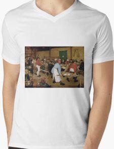 Pieter Bruegel the Elder - Peasant Wedding 1569 Mens V-Neck T-Shirt