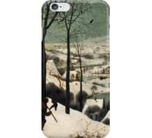 Pieter Bruegel the Elder - Hunters in the Snow Winter  iPhone Case/Skin