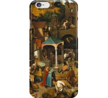 Pieter Bruegel the Elder - The Dutch Proverbs  iPhone Case/Skin