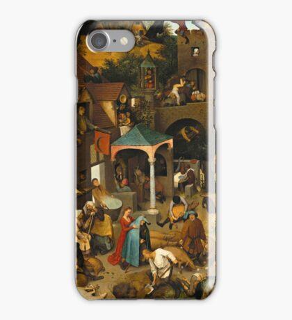 Pieter Bruegel the Elder - The Dutch Proverbs  iPhone Case/Skin