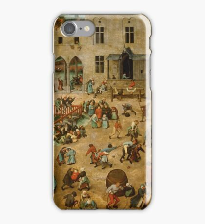 Pieter Bruegel the Elder - Children's Games  iPhone Case/Skin