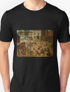 Pieter Bruegel the Elder - Children's Games  Unisex T-Shirt