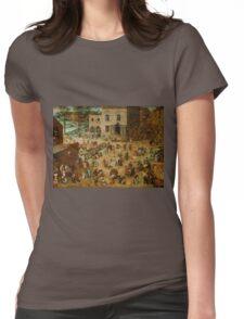Pieter Bruegel the Elder - Children's Games  Womens Fitted T-Shirt