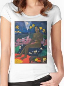 Paul Gauguin - The Seed of the Areoi  Women's Fitted Scoop T-Shirt
