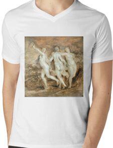 Peter Paul Rubens - The Three Graces Mens V-Neck T-Shirt