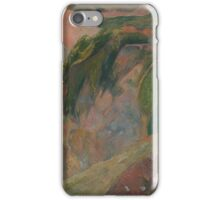 Paul Gauguin - The Flageolet Player on the Cliff  iPhone Case/Skin