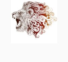 Head grinning lion with a mane (color) Unisex T-Shirt